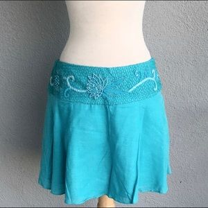 Marciano Beaded Low Rise Skirt Size M